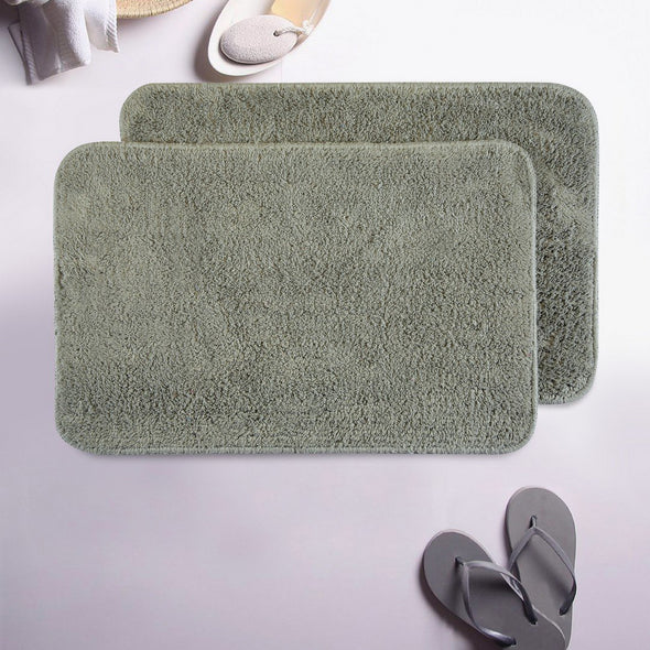 Copy of Obsessions Beige Rectangular Bath Mat - Wooden Home Decor