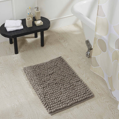 Obsessions Universal 100% Cotton Bath Mat Grey - Wooden Home Decor