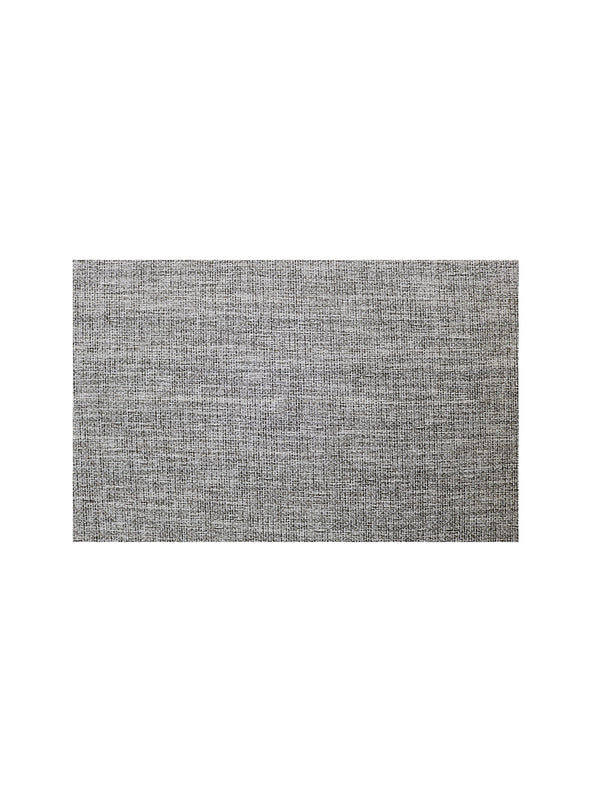 Grey & White Striped Set of 6 Woven Design Table Mats - Wooden Home Decor