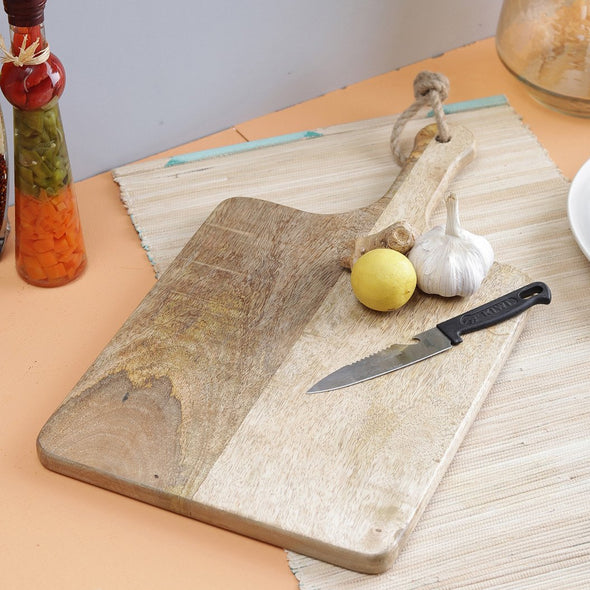 Brown Solid Chopping Board - Wooden Home Decor