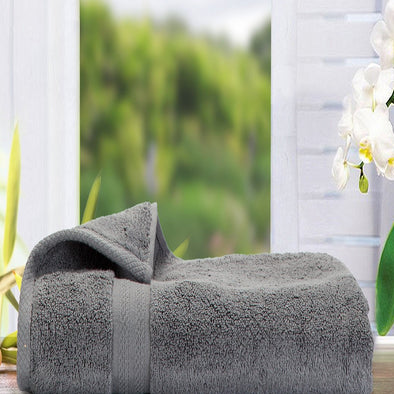 Grey 500 GSM Bath Towel - Wooden Home Decor