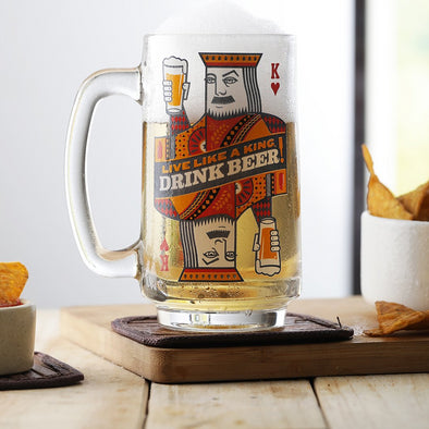 King's Life Beer Mug - Wooden Home Decor
