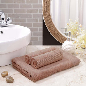Brown Set Of 3 Towels - Wooden Home Decor