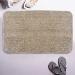 Beige Anti-Skid Bath Rug - Wooden Home Decor