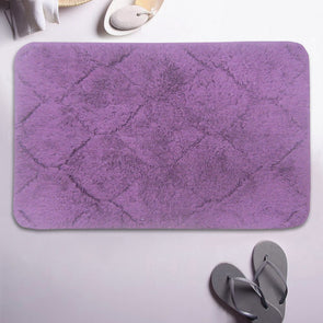 Purple Cotton Anti-Skid Bath Rug - Wooden Home Decor