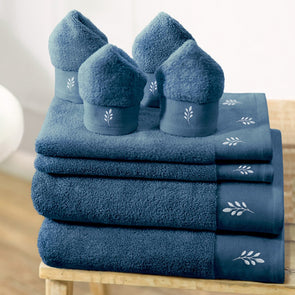 Set of 8 600 GSM Cotton Bath Towels - Wooden Home Decor