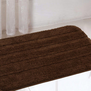 Set of 2 Rectangular Anti Slip Bath Rugs - Wooden Home Decor
