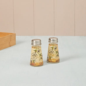 Printed Salt And Pepper Set - Wooden Home Decor