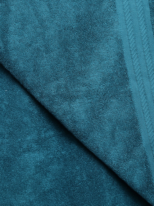 Teal Green 500 GSM Cotton Bath Towel - Wooden Home Decor