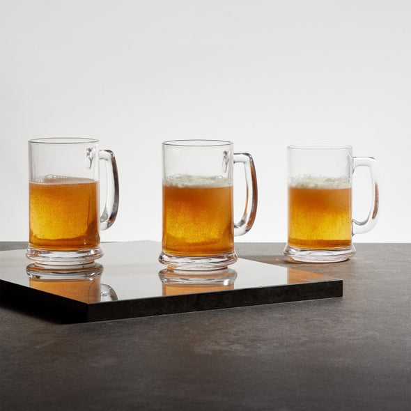 Lyra Round Beer Mug-Set Of 3Pcs - Wooden Home Decor