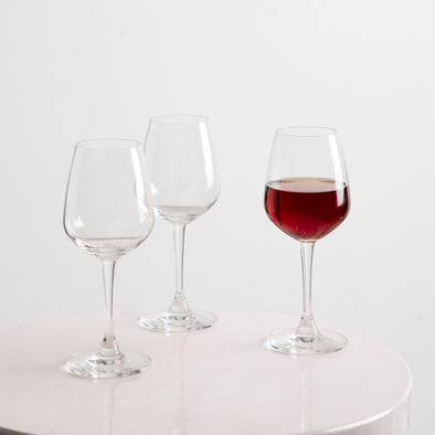 Red Wine Glass Set- 3 Pieces of 315 ml. each - Wooden Home Decor