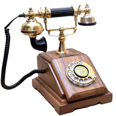 Wooden Model Telephone - Wooden Home Decor
