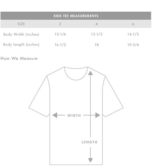 Midpoint Tee White- Kids