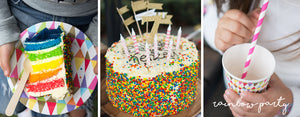 Celebrating Sweet Seven Twins: Rainbow Party Supplies