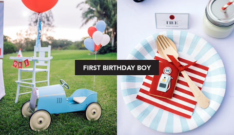 Vintage Car First Birthday