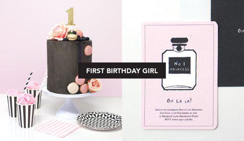 Chanel No 5 First Birthday Girl