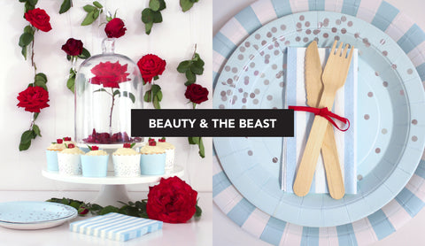 Beauty and Beast Inspired Table Setting