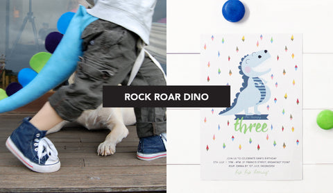 Dinosaur Kids Birthday Boy Party