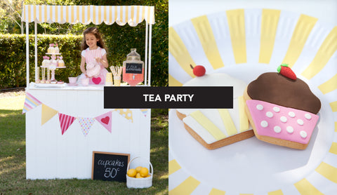 Pink and Yellow Kids Tea Party