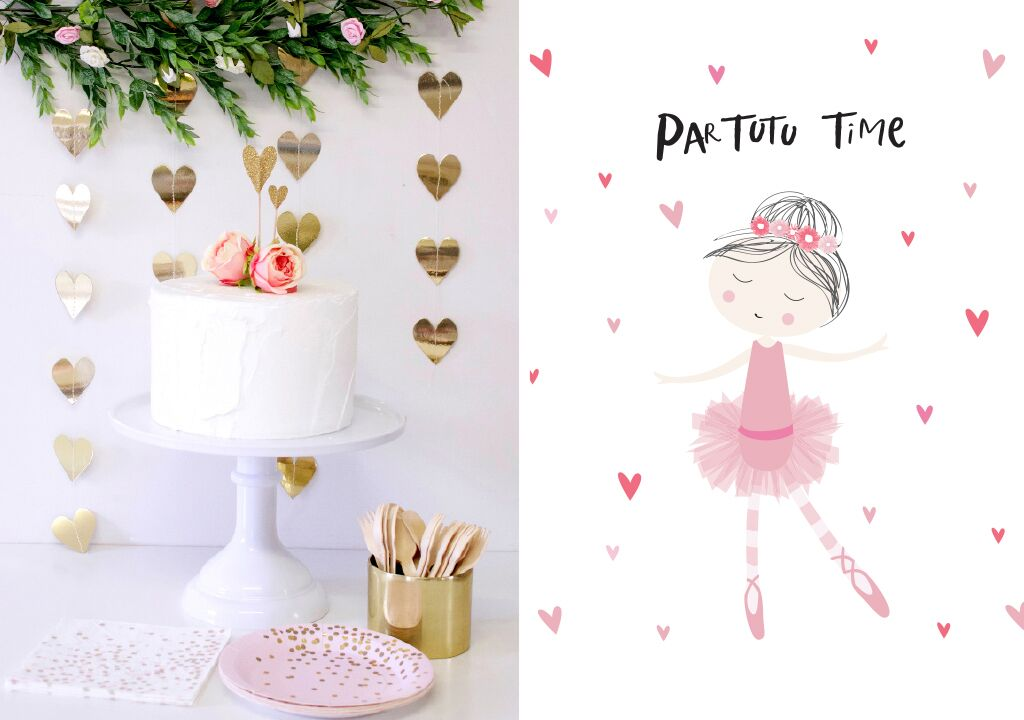 ballerina party theme supplies