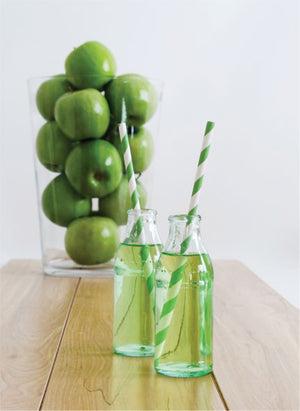 Paper Straws Apple Green 24pc