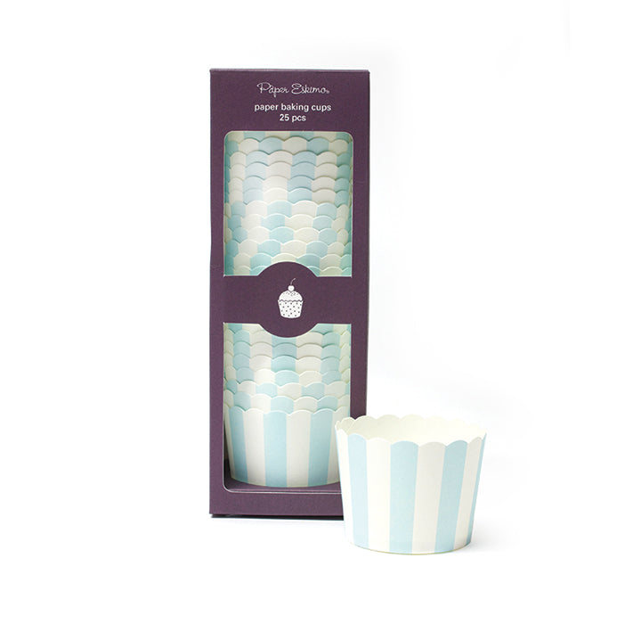 Baking Cup Powder Blue 25pc