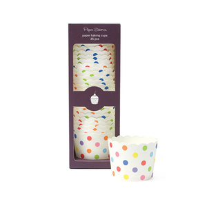 Baking Cup Rainbow Spot 25pc