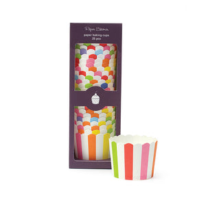 Baking Cup Rainbow Stripe 25pc