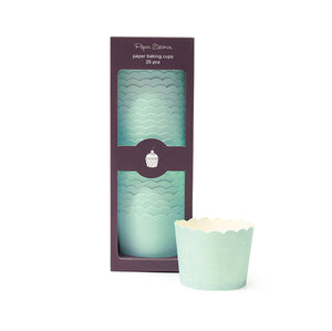 Baking Cup Solid Mint 25pc