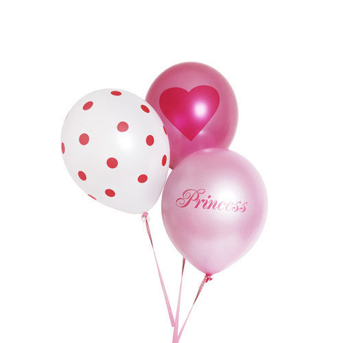 Balloons Princess Girl 18pc