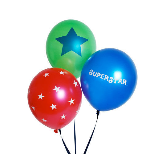 Balloons Superstar Boy 18pc