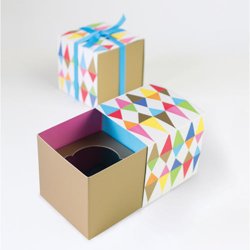 Gift Box with Free Cupcake Insert - Rainbow 6pc