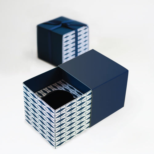 Gift Box with Free Cupcake Insert - Naut So Navy 6pc