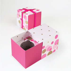 Gift Box with Free Cupcake Insert - Pink So Hot 6pc