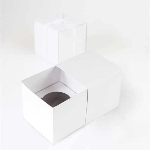 Gift Box with Free Cupcake Insert - White 6pc