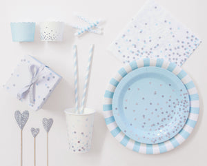 Paper Cups Powder Blue 12pc