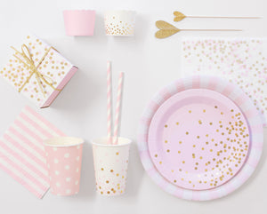Paper Plates Marshmallow Pink 12pc