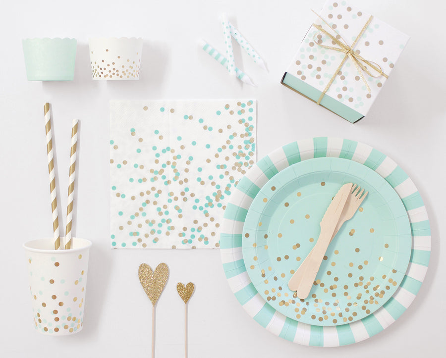 Paper Plate Mint To Be 12pc