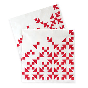 Large Napkins Candy Cane Red 20pc