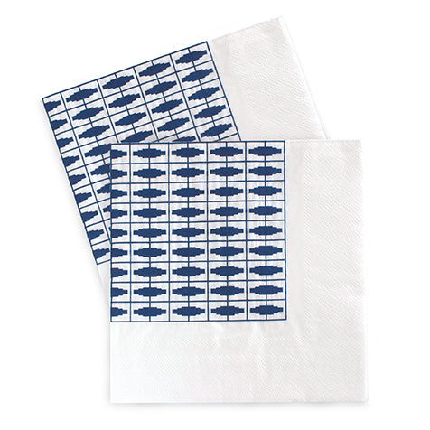Large Napkins Naut So Navy 20pc