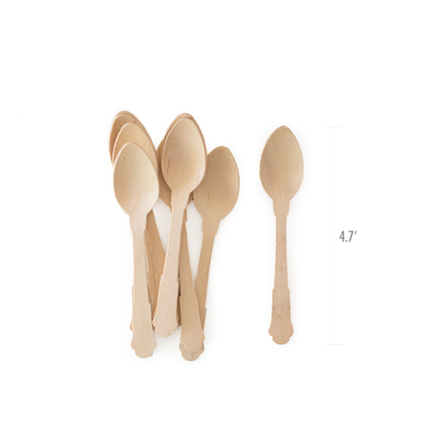 Wooden Cutlery-Deluxe Dessert 24pc