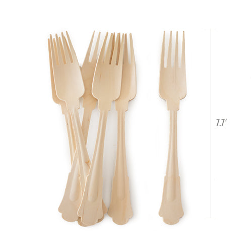 Wooden Cutlery-Deluxe Forks 24pc