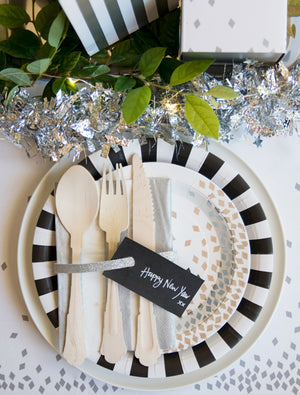 Paper Plates Black Tie 12pc