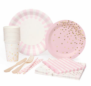 Marshmallow Pink party for 12 kit