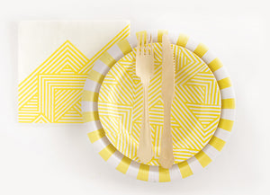Dessert Plate Hello Yellow 12pc