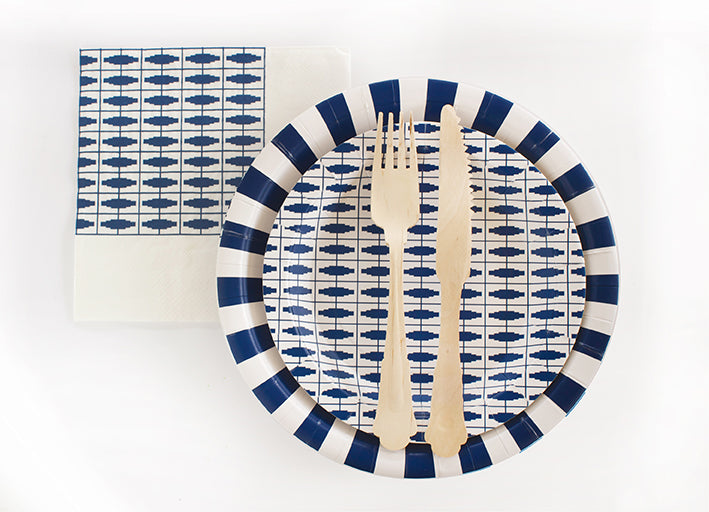 Paper Plate Naut So Navy 12pc