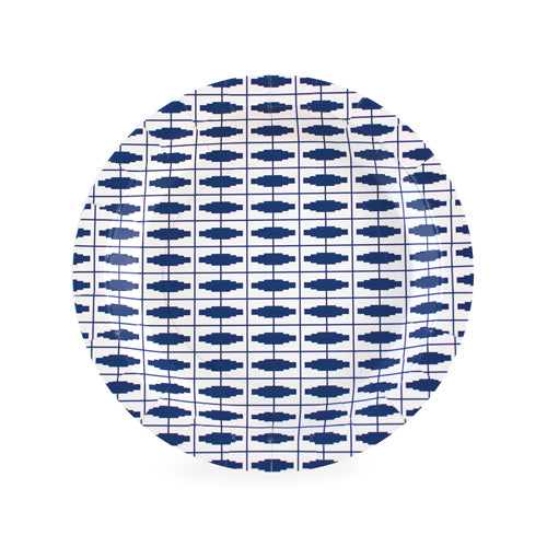 Dessert Plate Naut So Navy 12pc