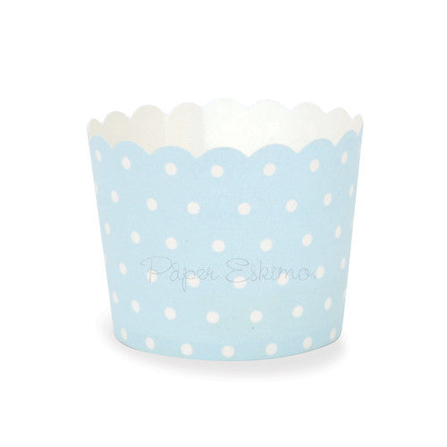 Baking Cup Blue Spots 25pc