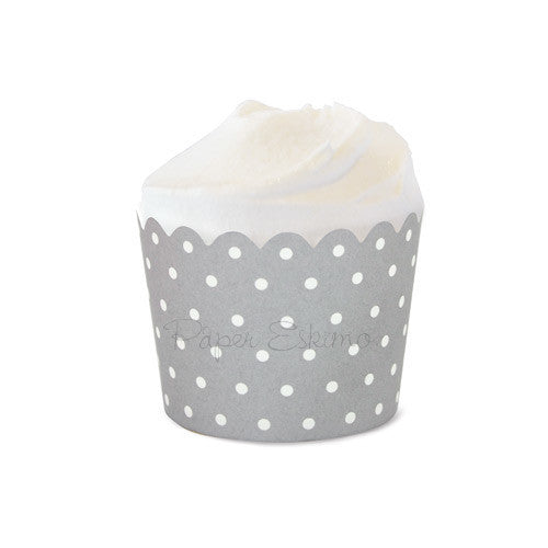 Baking Cup Silver Sundae Spot 25pc