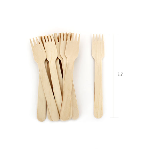 Wooden Cutlery-Petite Forks 24pc